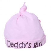 Gorro Beauty & The Bib Daddy´s Girl Rosa +6Meses
