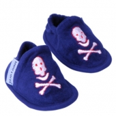 "Zapatillas ""Beauty & The Bib"" Pirata Marino 6-12Meses"