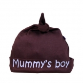 Gorro Beauty & The Bib Mummy´s Boy Marrón +6Meses