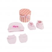 Mi Pipo Set Recién Nacido Personalizado Rosa +0M