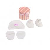 Mi Pipo Set Recién Nacido Personalizado Blanco-Rosa +0M