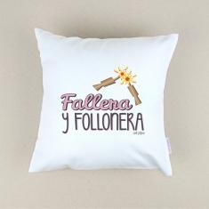 Cojín cuadrado piqué Fallera y Follonera