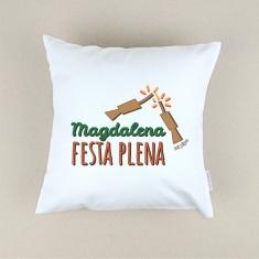 Cojín cuadrado piqué Magdalena Festa Plena petardos