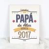 Lienzo Personalizado Genuine Papa de (nombre niño/a) since (año nacimiento)