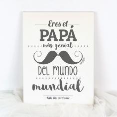 Lienzo Eres el Papá más genial del mundo mundial