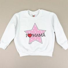 Sudadera I love Mamá con estrella rosa