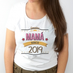 Camiseta Personalizada Mamá desde...(año nacimiento hijo)