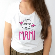 Camiseta Divertida Mamá Súper Mami
