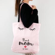 Bolso algodón orgánico personalizado Proud Mom of (nombre niño/a)