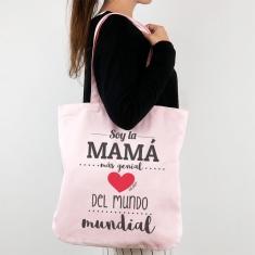 Bolso algodón orgánico Soy la Mamá más genial del mundo mundial