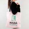 Bolso algodón orgánico Mamá en prácticas menta