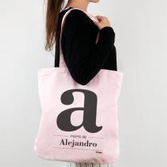 Bolso algodón orgánico personalizado con Inicial (nombre niño/a)