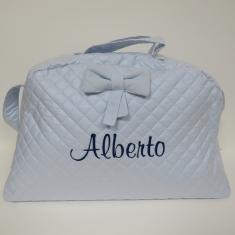Bolso Maternidad Perla Celeste nombre Alberto 60% DTO