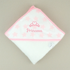 Capa de baño Estrellas rosa Princesa