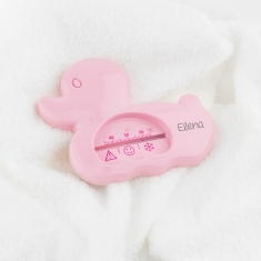 Bath Thermometer Pink Personalized