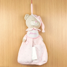 Diaper Keeper Pink Personalized