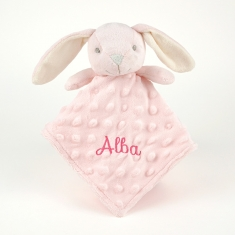 Dou-Dou Rabbit Head Pink +0M Personalized