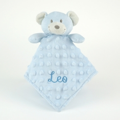 Dou-Dou Teddy Bear Head Blue +0M Personalized