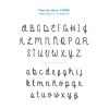 Abecedario letra bordado Petate Azul