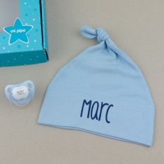 Box Rattle Blue Personalized