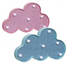 Nube de Leds Rosa o Azul Glitter