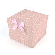 Cajita regalo topitos rosa 1ud