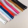 Leather shoulder strap for Bag in Gray, Pink and Light Blue