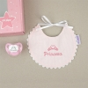 Box Baby Bib Pink Personalized