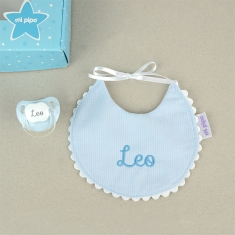 Box Baby Bib Blue Personalized