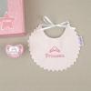 Cajita Baby babero rosa Princesa
