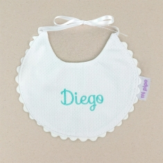 Bib Piqué Birth Beige Personalized