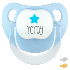 Baby Customizable Pacifier Pastel Blue Pirate