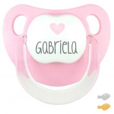 Baby Deco Personalizado Rosa Corazón