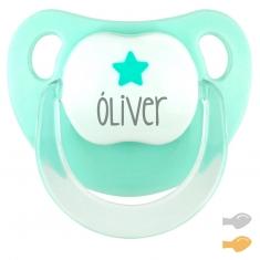 Baby Deco Personalizado Verde Mint Estrella