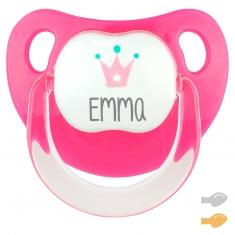 Baby Deco Personalizado Fucsia Corona