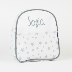 Backpack Stars Gray Personalized