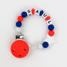 Silicone Chain Personalized Red