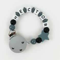 Silicone Chain Personalized Gray
