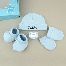 Set Box Newborn Blue Personalized