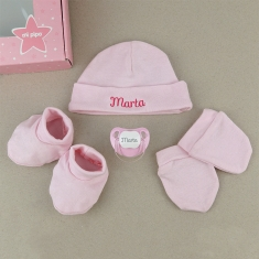 Set Box Newborn Pink Personalized
