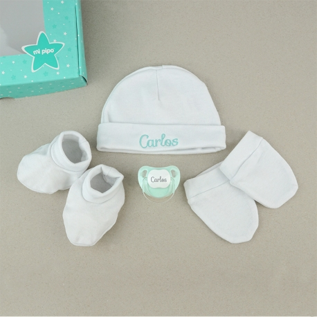 Set Box Newborn White Personalized