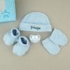 Cajita Set Recién Nacido Azul Príncipe