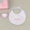 Box Baby Bib Pink Personalized