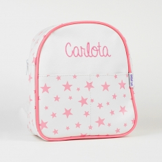 Backpack Stars Pink Personalized