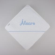 BABIDU Capa de Baño Personalizada Estrellas Azul