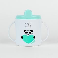 Taza Panda menta personalizada