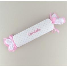Cojín Antivuelco Caramelo Estrellas Rosa Personalizado