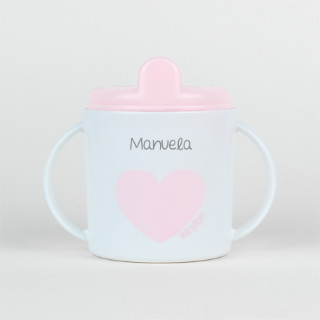 Cup Heart Pink +9M Personalized