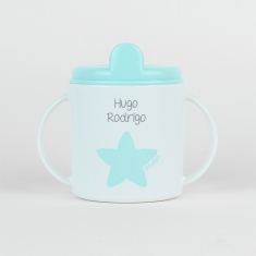Taza Estrella azul pastel personalizada