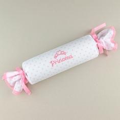 Cojín Antivuelco Caramelo Estrellas Rosa Princesa